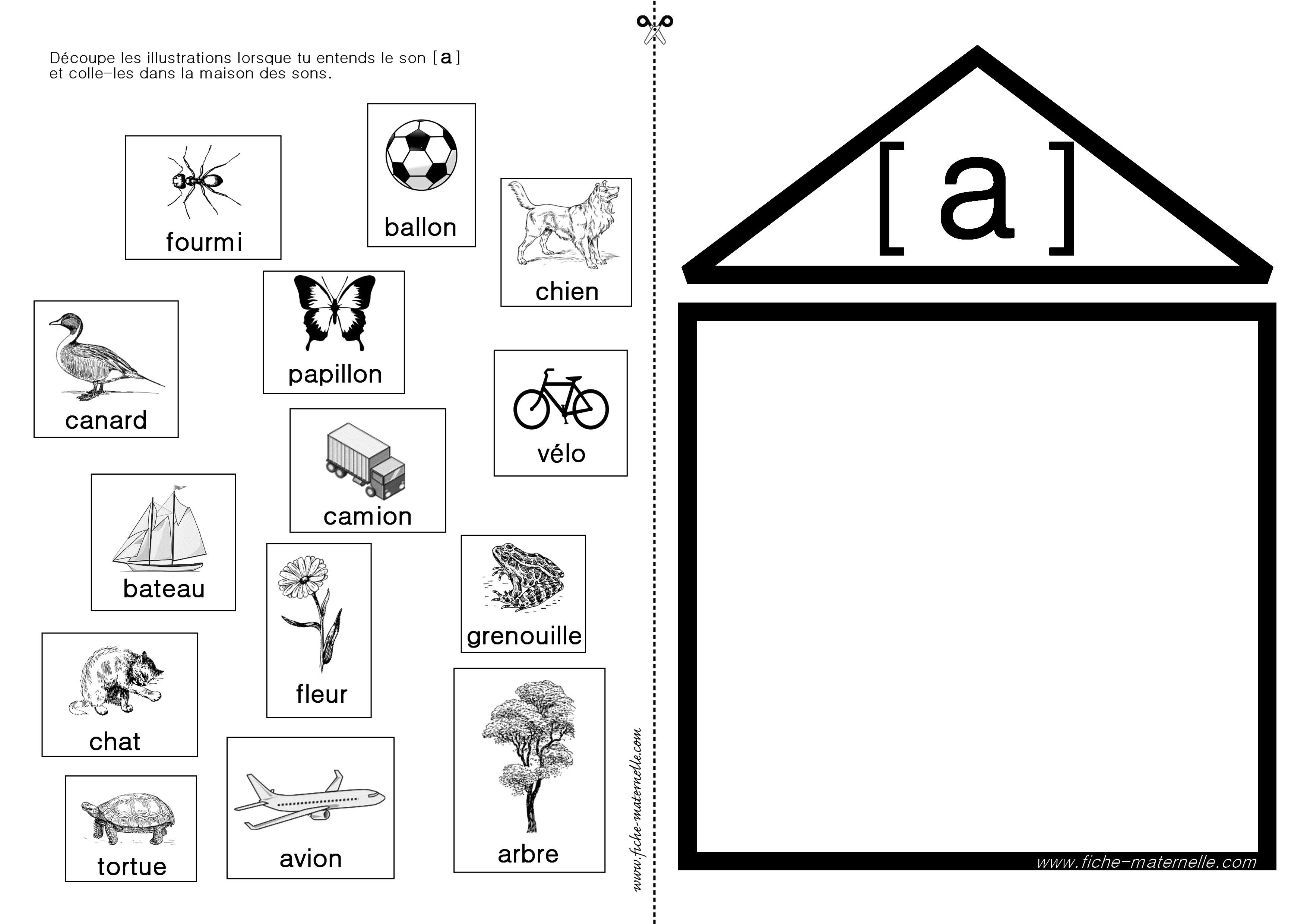 Assez Apprendre à lire en maternelle et CP : exercices autour du son [a] LZ93
