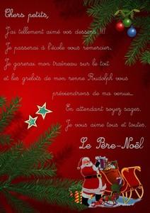 Lettre Du Pere Noel
