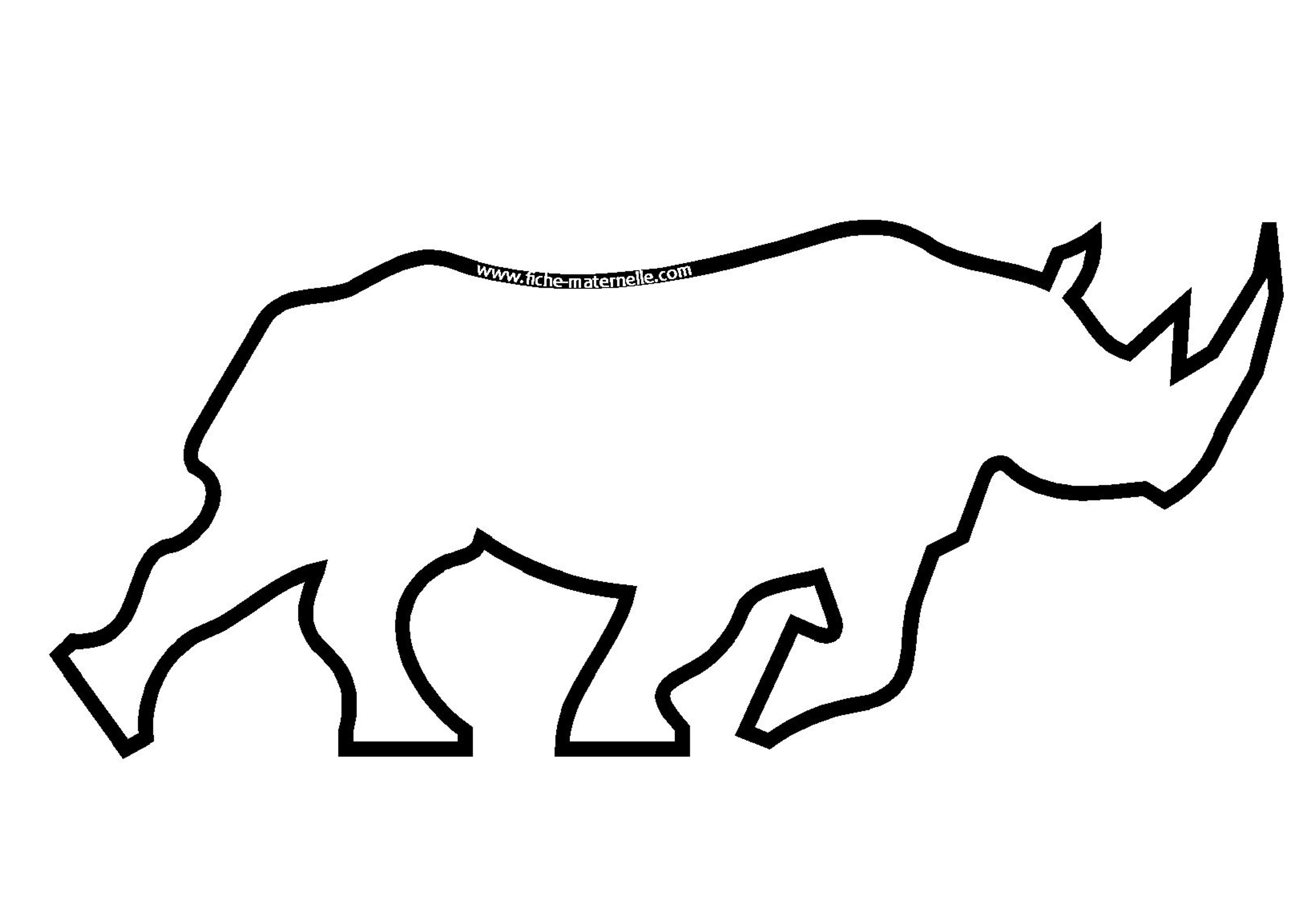 Coloriage - Rhinoceros dessin ...