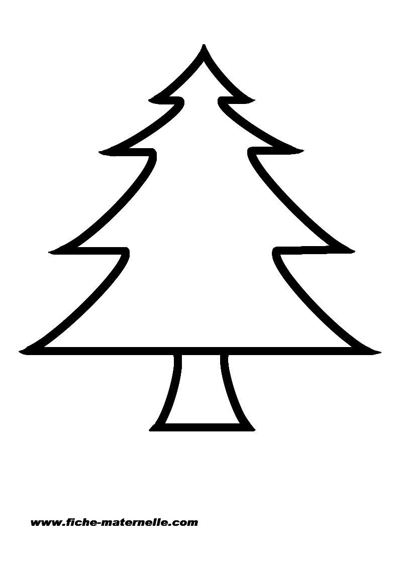 Gabarit D Un Sapin De Noël