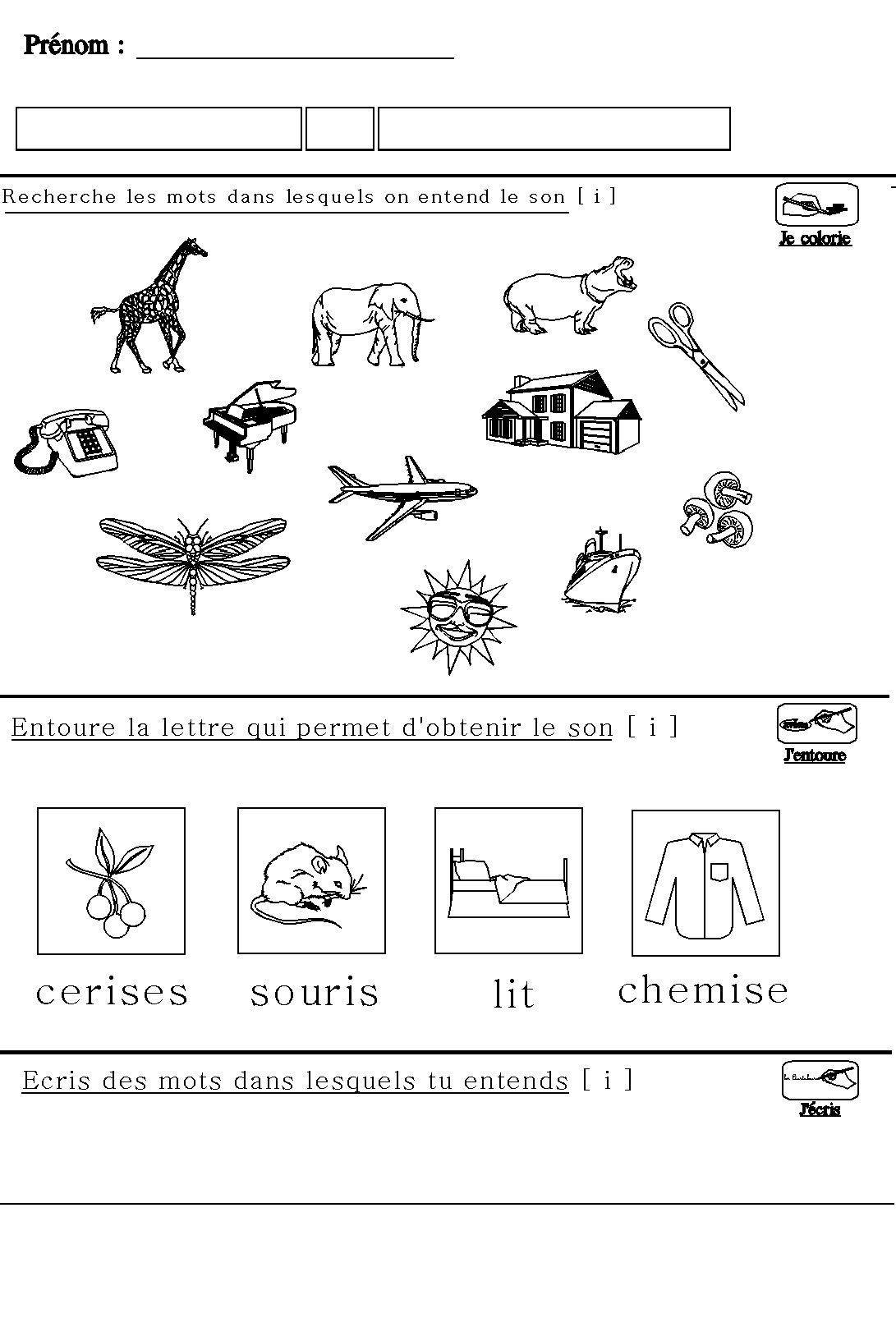 Souvent Apprendre à lire en maternelle : le son [i] pour maternelle grande  WJ81